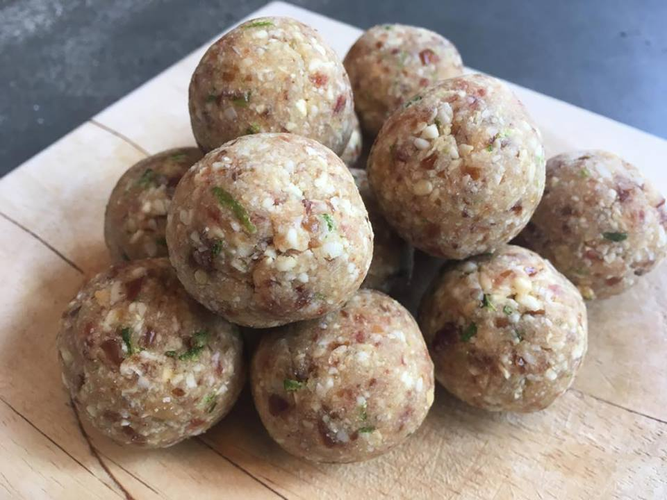 Bliss balls m/ lime og kokos | Kun 4 ingredienser
