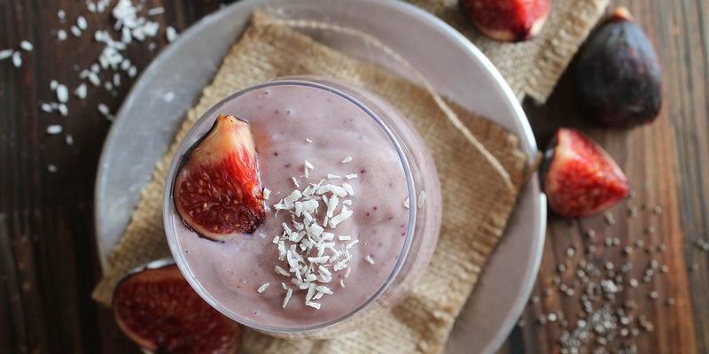 Nydelig, kremet fikensmoothie | melkefri | full av næring