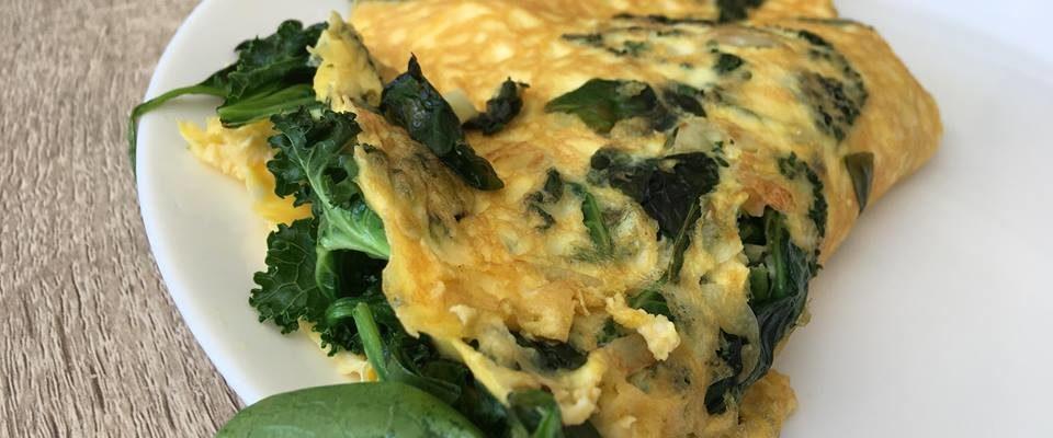 Spinat- og grønnkålsomelett – Næringsbombe!