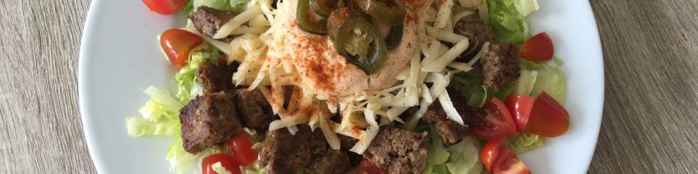 Kebabtallerken | Med ekte kebabkjøtt